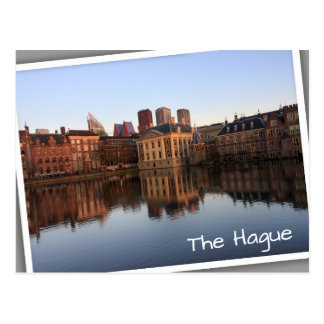 The Hague skyline in the Netherlands Postcard