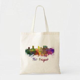The Hague skyline in watercolor Tote Bag