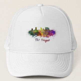 The Hague skyline in watercolor Trucker Hat