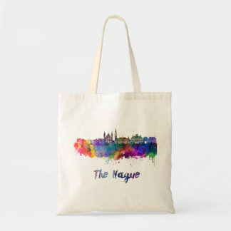 The Hague V2 skyline in watercolor Tote Bag