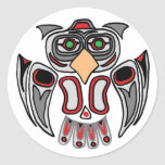 The Haida Owl Round Sticker