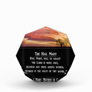 The Hail Mary Prayer Acrylic Award
