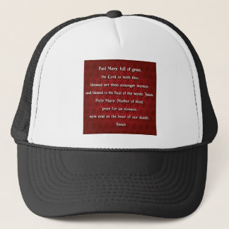 The Hail Mary Prayer in traditional English Trucker Hat