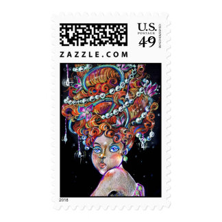 The Hair Postage Stamp