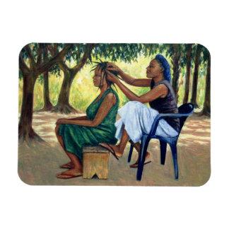 The Hairdresser 2001 Rectangular Photo Magnet