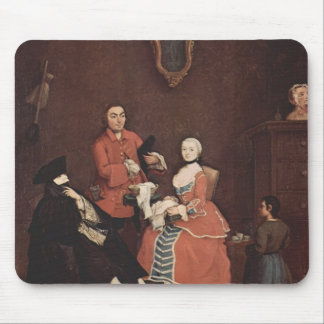 The hairdresser by Pietro Longhi Mousepads