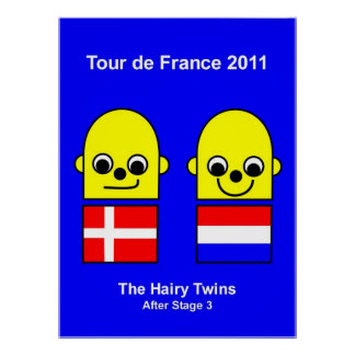 The Hairy Twins Tour de France 2011 Stage 3 Print