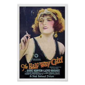 The Half Way Girl Vintage Movie Poster