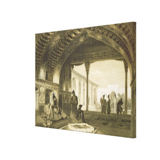 The Hall of Mirrors in the Palace of the Sardar of Stretched Canvas Print