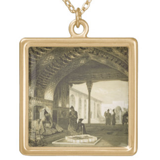 The Hall of Mirrors in the Palace of the Sardar of Square Pendant Necklace