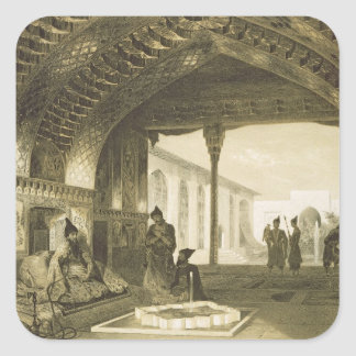 The Hall of Mirrors in the Palace of the Sardar of Square Stickers