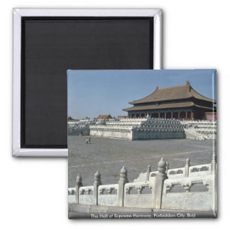 The Hall of Supreme Harmony, Forbidden City, Beiji 2 Inch Square Magnet