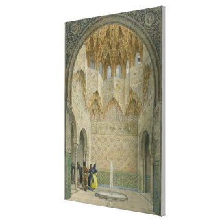 The Hall of the Abencerrages, the Alhambra, Granad Canvas Print