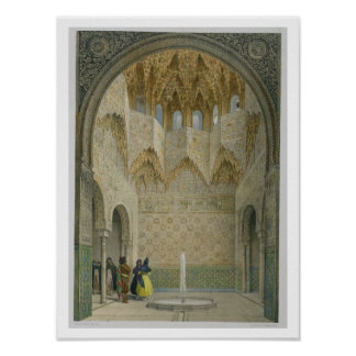 The Hall of the Abencerrages, the Alhambra, Granad Poster