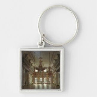 The Hall of the Field Marshal in the Winter Silver-Colored Square Keychain
