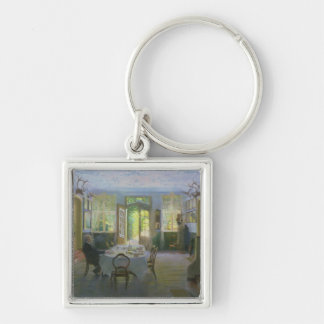 The Hall of the Manor House in Waltershof, 1894 Keychain