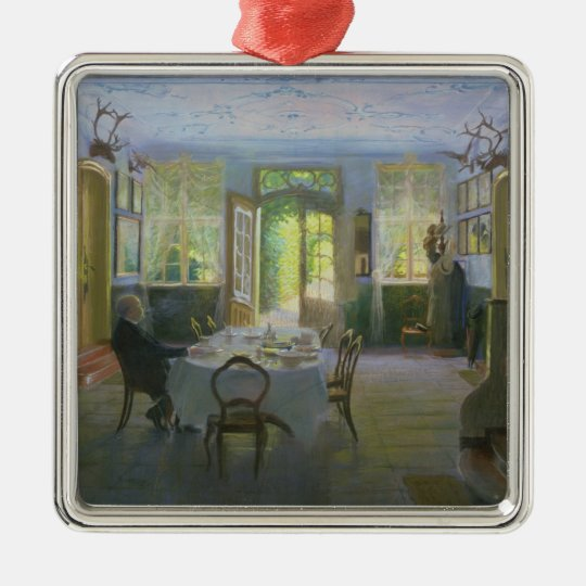 The Hall of the Manor House in Waltershof, 1894 Metal Ornament