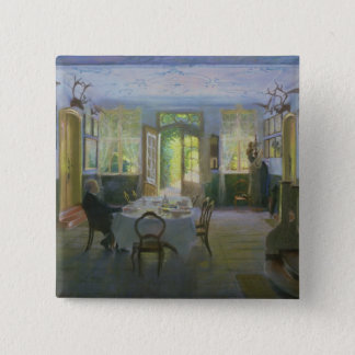The Hall of the Manor House in Waltershof, 1894 Pinback Button