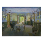 The Hall of the Manor House in Waltershof, 1894 Posters
