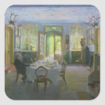The Hall of the Manor House in Waltershof, 1894 Square Sticker