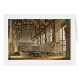 The Hall of Trinity College, Cambridge, from 'The Card
