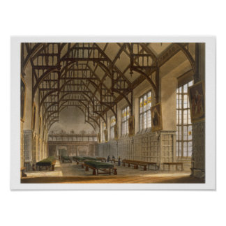 The Hall of Trinity College, Cambridge, from 'The Poster