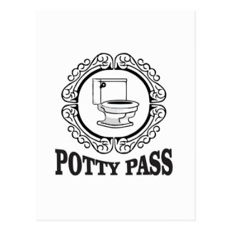 the hall potty pass postcard