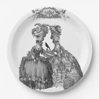 The Halloween Ball (white background) Paper Plate