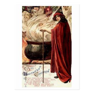 The Halloween Cauldron Postcard