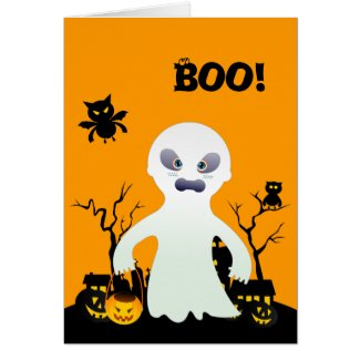 The Halloween Spooky Ghost Greeting Cards
