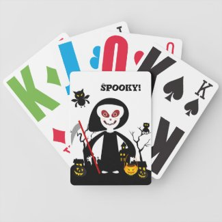 The Halloween Spooky Miss Death Bicycle Poker Deck