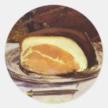 The Ham by Edward Manet Classic Round Sticker