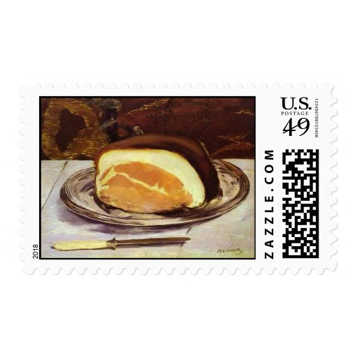 The Ham by Edward Manet Postage Stamps