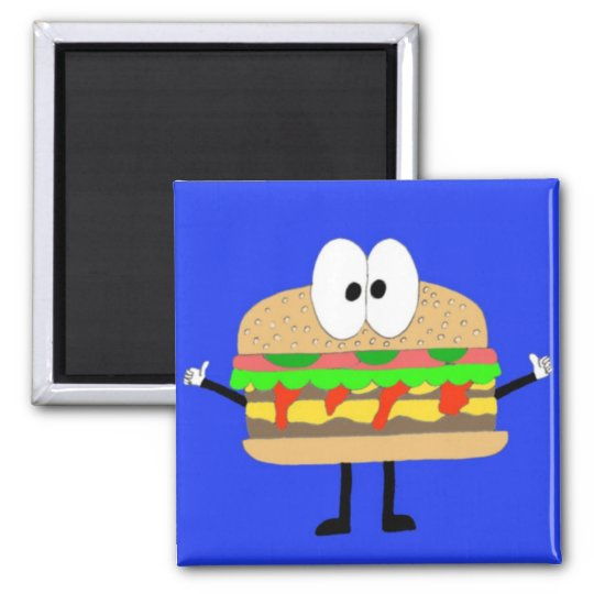 The Hamburger Man doing the Fonzie Magnet