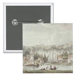 The Hameau, Petit Trianon, 1786 2 Inch Square Button