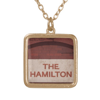 the hamilton gold plated necklace