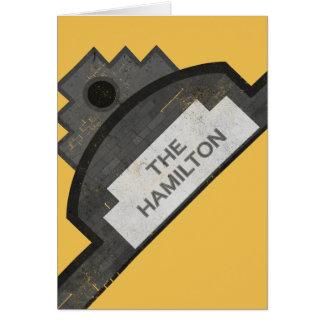the hamilton signage card