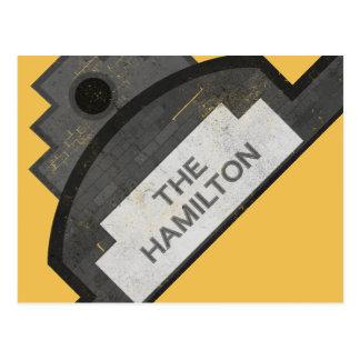 the hamilton signage postcard