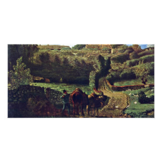The Hamlet Cousin At Greville By Millet  (Best Qua Photo Card Template