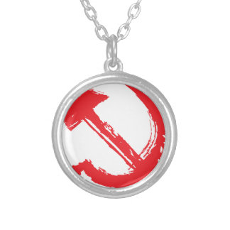 The hammer and sickle 4 silver plated necklace