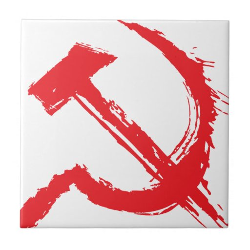 The hammer and sickle 4 small square tile