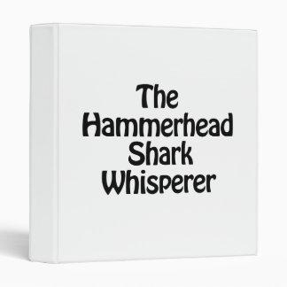 the hammerhead shark whisperer vinyl binder