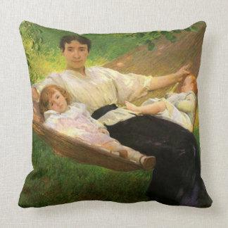 """The Hammock"" by Joseph De Camp Throw Pillow"