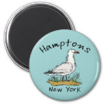 The Hamptons 2 Inch Round Magnet