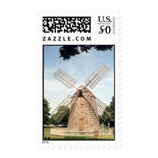 The Hamptons, NY Windmill - Stamp