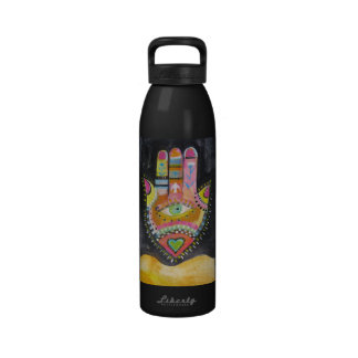 The Hamsa  - Protection from the Evil Eye - ART Reusable Water Bottle