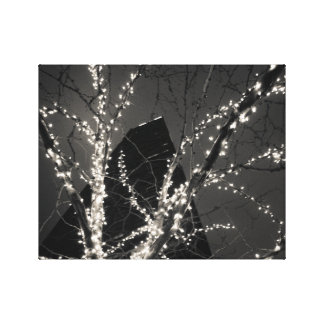 The Hancock Building at Christmastime Canvas Prints