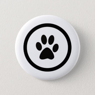 The hand crest of cat pinback button