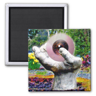The Hand Digital Photography 2 Inch Square Magnet