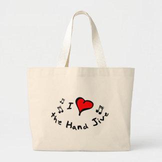 the Hand Jive I Heart-Love Gift Canvas Bags